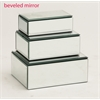 Benzara The Prized Set Of 3 Wood Mirror Jewelry Box