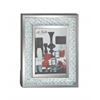 "Bubble Design Wood Mirror Photo Frame 9""W, 11""H"