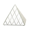 Useful Glass Mirror Pyramid, Chrome Silver
