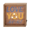 "Astounding Wood Led Wall Sign 8""W, 8""H"