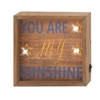 "Benzara Fantastic Wood Led Wall Sign 8""W, 8""H"