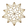 "Stunning Metal Star Table Decor 11""W, 11""H"