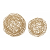 "Whimsical Set Of Two Metal Wire Orb 8"", 6""W"