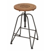 "Modish Metal Wood Adjustable Bar Chair 14""W, 28""H"