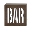 "Benzara Unique Wood Led Wall Bar Sign 10""W, 10""H"