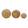 "Benzara Jute Ball Set Of 3 4"", 7"", 8""D"