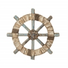 "Benzara Exclusive Wood Ship Wheel Wall Decor 24""D"