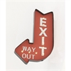 Trendy Metal Led Exit Wall Sign, Red & White