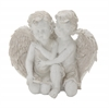 "Appealing Polyresin Double Angel 10""W, 9""H"