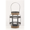 "Benzara Striking Metal Glass Rope Candle Lantern 9""W, 12""H"