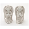 "Gorgeous Polyresin Angel Set Of 2 7""W, 10""H"