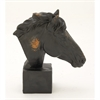 Radiant Ceramic Horse Head, Black