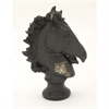Remarkable Ceramic Horse Head, Black