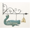 Stunning Metal Wall Welcome Sign, Multicolor