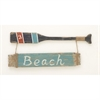 Charismatic Wood Beach Oar Wall Sign, Multicolor