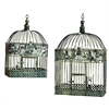 Benzara Metal Bird Cage S/2 For Garden Or Porch