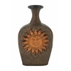 Astounding Metal Sun Vase