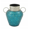 Striking Metal Mosaic Vase