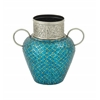 Gracefully Styled Metal Mosaic Vase