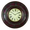 Benzara Wood Wall Clock With 36 Inch Diameter
