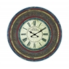Wood Wall Clock With Large Roman Numerals