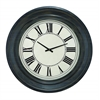 Benzara Wall Clock In Dark Brown Finish And Black Roman Numerals