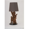 "Benzara Designer Teak Wood Metal Table Lamp 31""H"