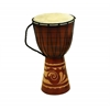 Benzara Wood Leather Djembe Drum Djembe Toca Wood / Leather