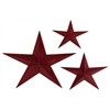 Benzara Metal Star Set Of 3 Casted In Shape Of Three Stars