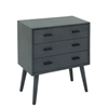 "Wood Chest 24""W, 28""H, Gray"