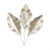 Gorgeous Stainless Steel Leaf Wall Decor, Silver