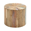 Benzara Lovely And Natural Reclaimed Wood Side Table