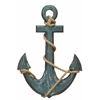 Benzara Wood Anchor With Rope Nautical Decor