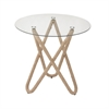 Charming Metal Rope Glass Table, Natural