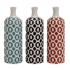 Benzara Attractive And Stylish Ceramic Vase 3 Assorted