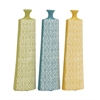 Set Of 3 Assorted Long And Uniquely Designed Ceramic Vases