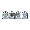 Benzara Metal Desk Clock Assorted In French Style (Set Of 4)