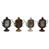 Benzara Captivating & Unique Styled Metal Table Clock 4 Assorted