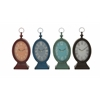 Benzara Stylish Metal Table Clock 4 Assorted