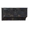 Benzara Metal Wall Shelf With Seamless Transitions