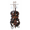 Antique Finish Metal Wine Holder With Flowery & Leafy Design