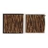 "Benzara Unique Teak Twig Wall Panel 2 Assorted 14""W,14""H"