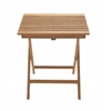 Benzara Portable And Useful Wood Teak Folding Table
