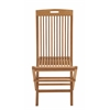 Benzara Comfortable Wood Teak Folding Chair