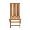 Benzara Portable And Useful Wood Teak Folding Chair