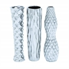 Benzara Ceramic Vase In 3 Assorted Style With Subtle Curves