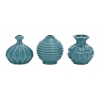 Benzara The Blue Ceramic Vase 3 Assorted