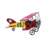 Benzara Yellow Red Decorative Metal Bi Airplane With Stars