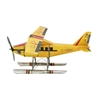 "Metal Airplane 59""W, 22""H, Yellow"