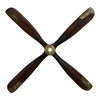 "Wood Airplane Prop 44""W, 44""H, Dark Brown, Gold"